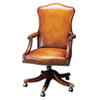 Mahogany swivel chair
