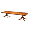 Mahogany 2 Ped Dining Table