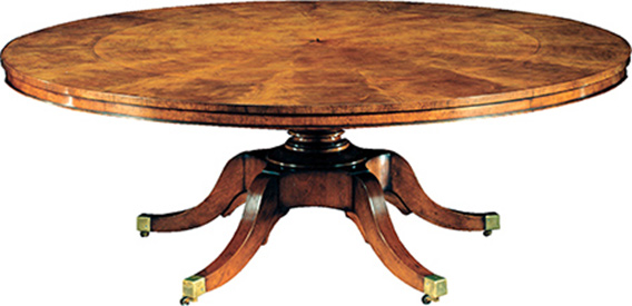 Mahogany Extending Round Dining Table DT6084