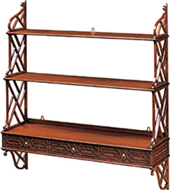 >Large Mahogany Fret Bookshelves