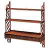 Large Mahogany Fret Bookshelves